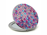 Pocket mirror with Swarovski crystals
