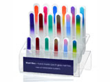 Display stand for 18 glass nail files