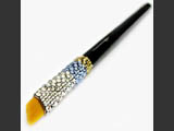 Make-up brush with Swarovski crystals
