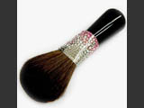 Powder brush with Swarovski crystals