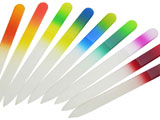 Two color glass nail files