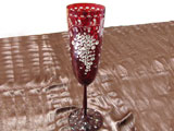 Glass with Swarovski crystals