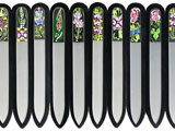 Hand painted crystal nail files