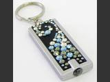 Rectangle Key Ring with Swarovski crystals