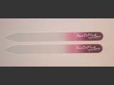 Glass nail file with promotional print