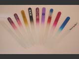 Czech glass nail files with logo/brand