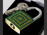Big luggage locks decorated by Mont Bleu with Swarovski crystals