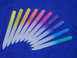 Plain color glass nail files