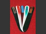 Promo glass nail files with custom logo