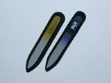 Glass nail files with printed logo/brand