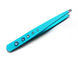 Eyebrow tweezers with slant tip, Swarovski crystals